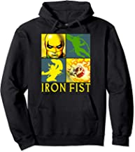 Marvel Iron Fist The Immortal Weapon Squared Graphic Hoodie