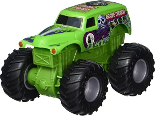 Hot Wheels Monster Jam Rev Trotz Größe Digger Grimm Vehicle (1 43 Scale)