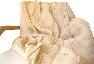 Manta decorativa con pliegues, Plaid para el sofá y cama de tejido natural, BeccaTextile.