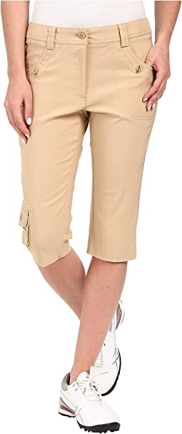 "Fly Front 24"" Knee Capris"