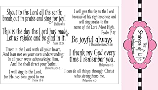 Christian Stamps for Card-Making and Scrapbooking Supplies by The Stamps of Life -Praise4Him Scripture Sentiments