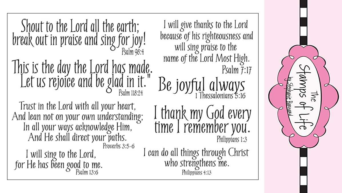 Christian Clear Stamps for Scrapbooking and Card-Making by The Stamps of Life -Praise4Him Scripture Sentiments