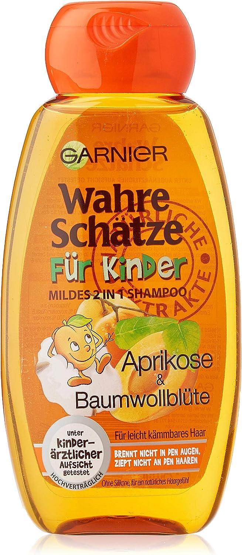 Garnier Original Remedies Champú para niños suave para el cabello manejable con el albaricoque y algodón de la flor, 250 ml