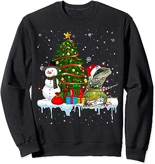 Iguana Costume Santa Lights Hat In Snow Christmas Sweatshirt