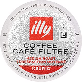 illy Coffee, Medium Roast, K-Cup for Keurig, 100% Arabica Bean Signature Italian Blend, Premium Gourmet Roasted Single Serve Drip Brewed Coffee, Made for Keurig K-Cup Brewers, 10 Count, Pack of 6