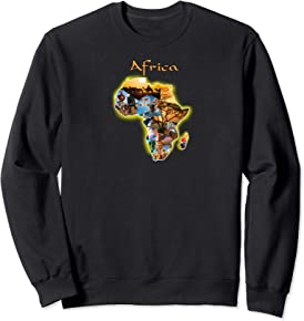World of Africa Sweatshirt Africa Map