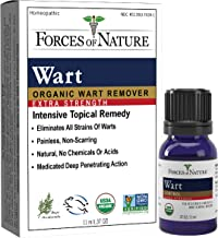 Forces of Nature -Natural, Organic Wart Extra Strength Remover (11ml) Non GMO, No Harmful Chemicals, Nontoxic -Eliminate Planter, Facial, Flat, Body, Hands, Fingers and Foot Warts at the Root