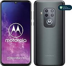 """Motorola One Zoom - Smartphone con Alexa Hands-Free, Pantalla 6,4"""" FHD+, Sistema de 4 cámaras, 128 GB/4 GB, Android 9.0, Dual SIM, Auriculares + Funda incluidos, Color Gris Eléctrico"""