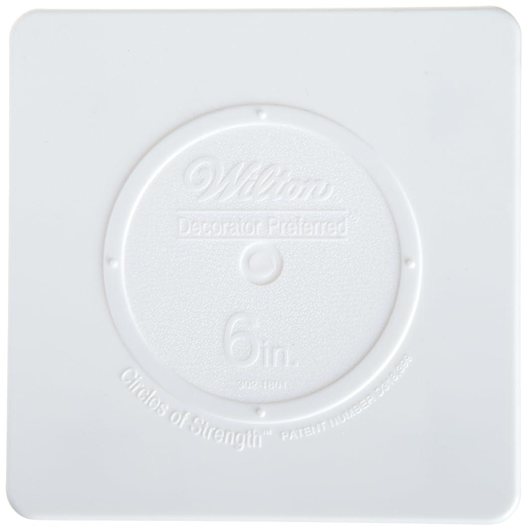 Wilton 302-1801 Decorator Preferred Square Separator Plate for Cakes, 6-Inch
