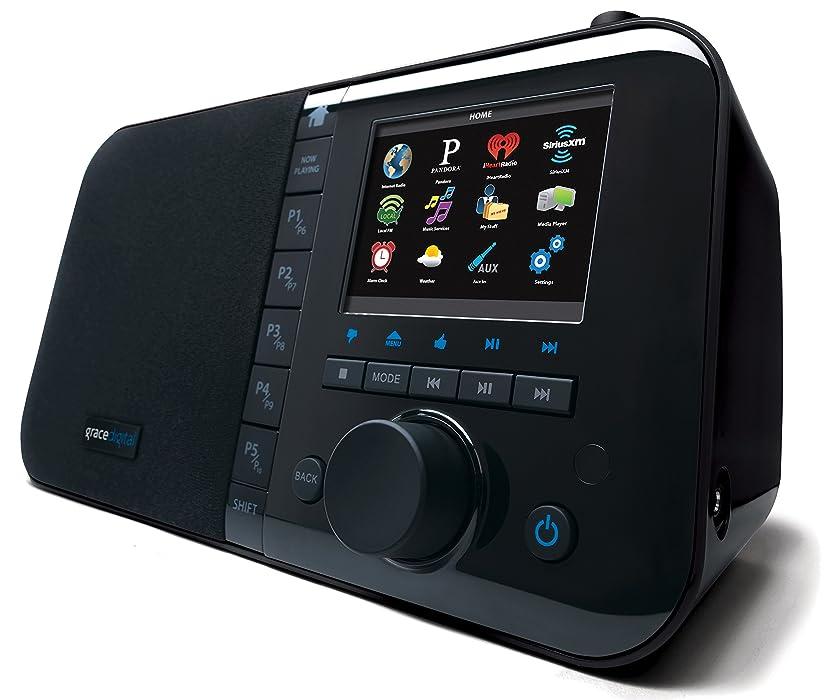 エジプトウェイターデンプシーGrace Digital Wi-Fi Music Player with 3.5-Inch Color Display (GDI-IRC6000) (Black) (並行輸入品)