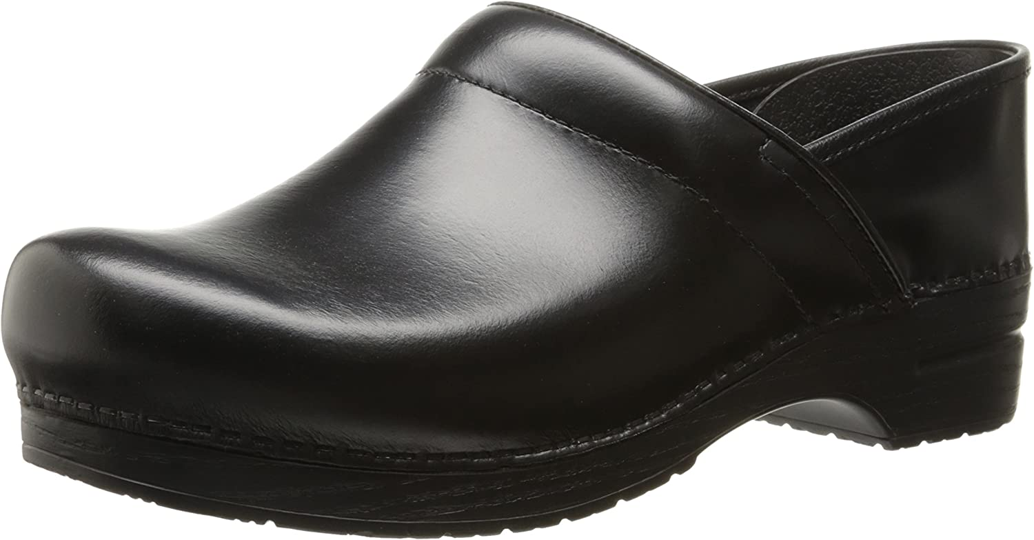 Dansko Men's Professional Leather Men's schwarz Cabrio Leather Clog Mule 46 (US Men's 12.5-13) Wide