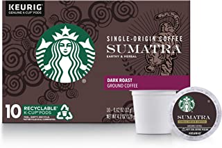 Starbucks Dark Roast K-Cup Coffee Pods — Sumatra for Keurig Brewers — 6 boxes (60 pods total)