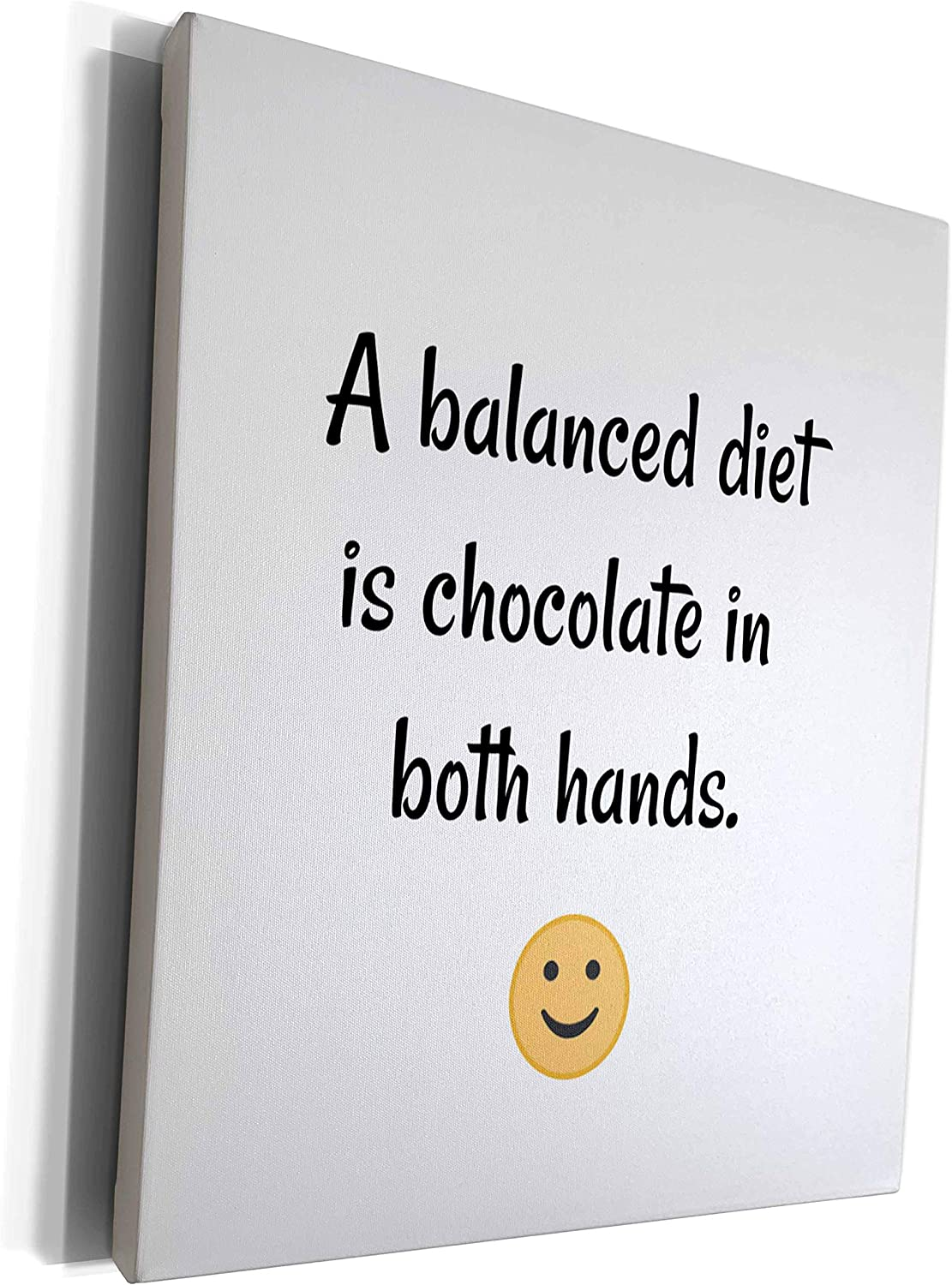 3dRose Nicole R - Quote Image A Diet Balanced Is 2021 new Chocolate of Purchase