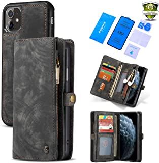 SWP Wallet Case for iPhone 11 Pro Max, Flip Case with 11 Card Holder 3 Cash Bags, Magnetic Detachable Cover with Full Edge...