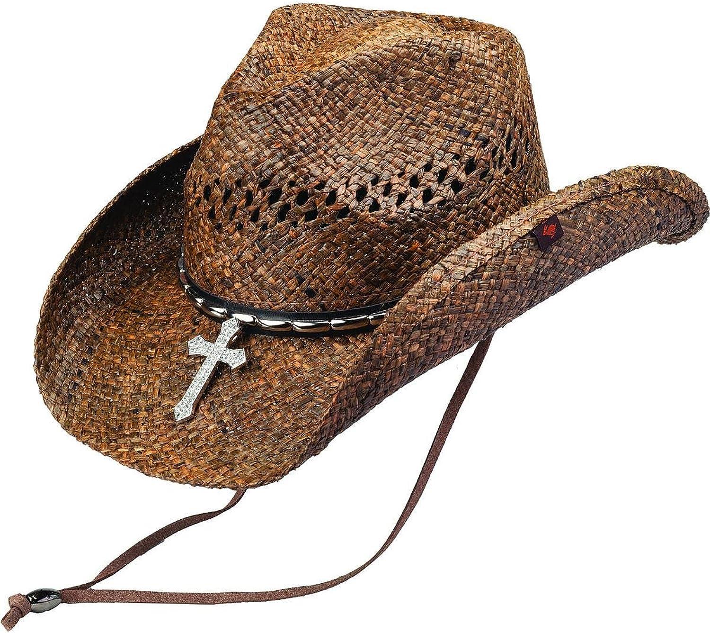 Peter Grimm Ltd Unisex Wagon Raffia S Brown Year-end gift One Straw Hat Brand new Cowboy