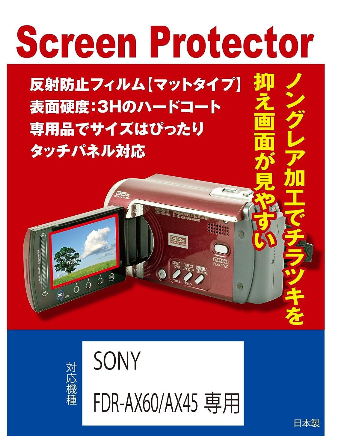 わずかに同じ成熟したSONY FDR-AX60/FDR-AX45専用 液晶保護フィルム(反射防止フィルム?マット)