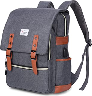 Vintage Laptop Backpack for Women Men,School College Backpack