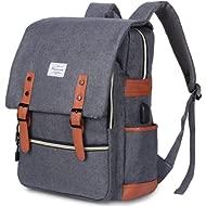 Modoker Vintage Laptop Backpack for Women Men,School College Backpack with USB Charging Port...