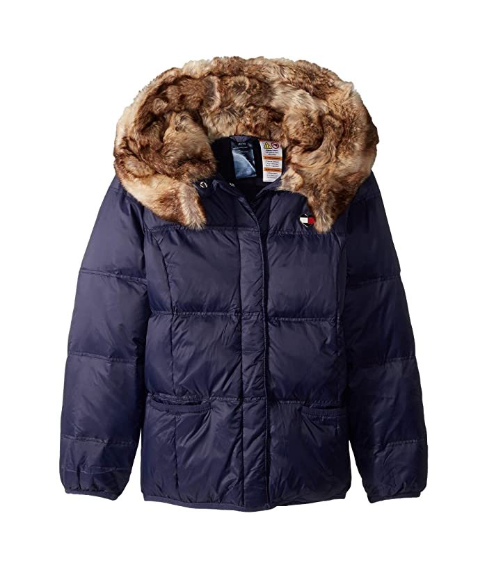 8670010f5d5c Tommy Hilfiger Adaptive Puffer Jacket with Magnetic Buttons and Faux ...