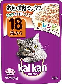 カルカン キャットフード パウチ 18歳から お魚・お肉ミックス 高齢猫用 70g×16袋 (まとめ買い)