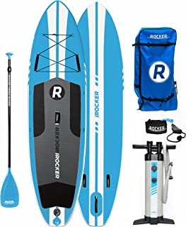 featured product iROCKER All-Around Inflatable Stand Up Paddle Board 10' Long 32 Wide 6 Thick SUP Package