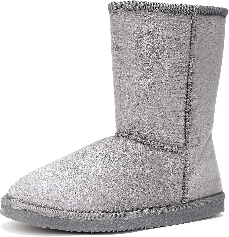 Funky Monkey FUNKYMONKEY Women's Winter Classic Suede Imitation Wool Lined Snow Boot
