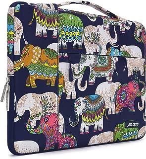 MOSISO Laptop Briefcase Handbag Polyester Multifunctional Sleeve Bag Multi Elephant Navy Base 13-13.3 Inch