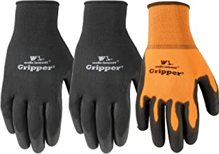 3 Pair Pack Ultimate Gripper Work Gloves with PU-Coating, Large (559LF)