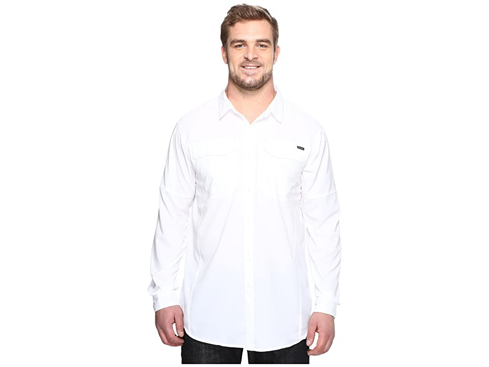 Columbia Big and Tall Silver Ridge Lite Long Sleeve Shirt (White) Men
