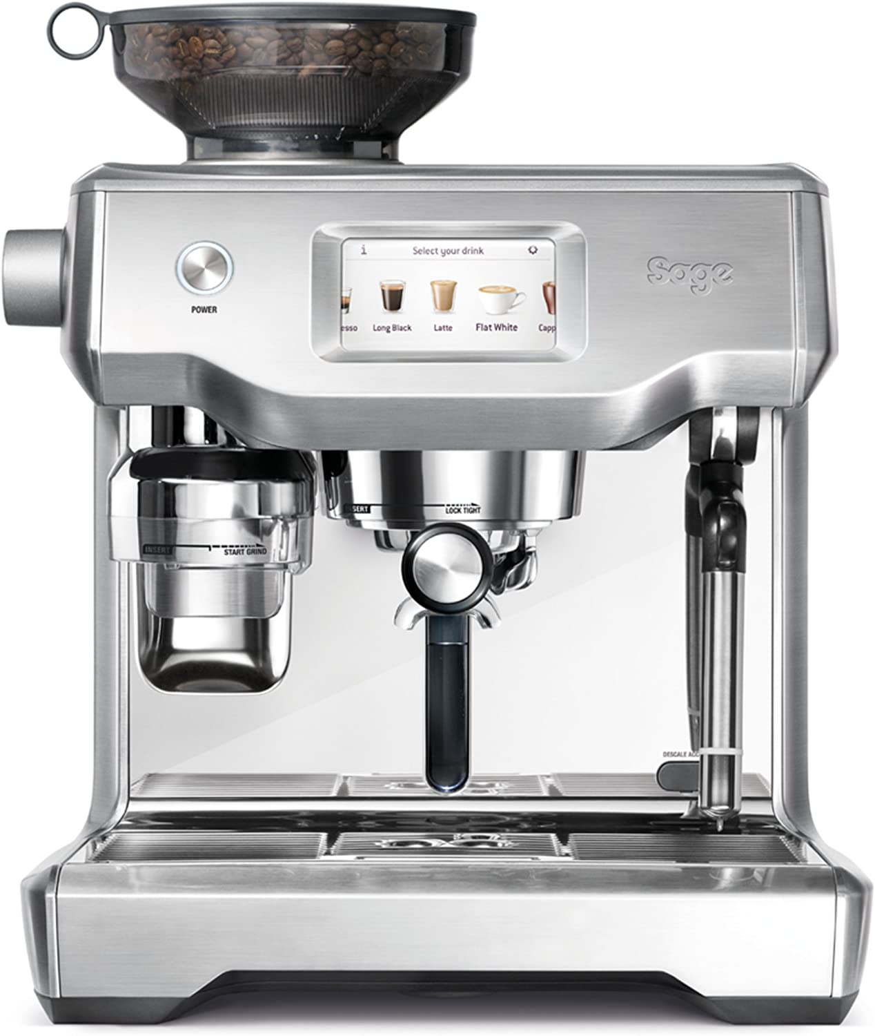 SAGE SES990 theOracle Touch, Cafetera espresso, Cappuccinatore, 15 Bar, Acero Inoxidable