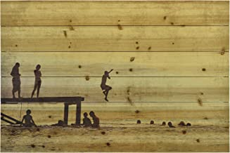 Empire Art Direct Summer Lake Fine Art Giclee Printed on Solid Fir Planks Graphic Wall Art