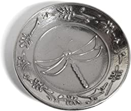 product image for Crosby & Taylor Dragonfly 3-inch Pewter Teabag Holder Trinket Dish