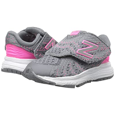 New Balance Kids Hook and Loop FuelCore Rush v3 (Infant/Toddler) (Grey/Pink) Girls Shoes