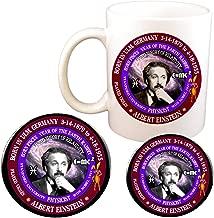 Albert Einstein Scientist Born Astrology Pisces Zodiac Earth Rabbit Cup + Magnet + Pin