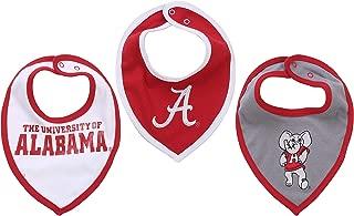 NCAA Alabama Crimson Tide Bib Set (3 pcs) Baby Boy or Girl