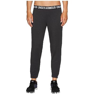 Under Armour Featherweight Fleece Pants (Black/White/Graphite) Women