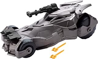 Mattel Justice League Batmobile Con Cannone - 3 Years And Above - Grey/Black