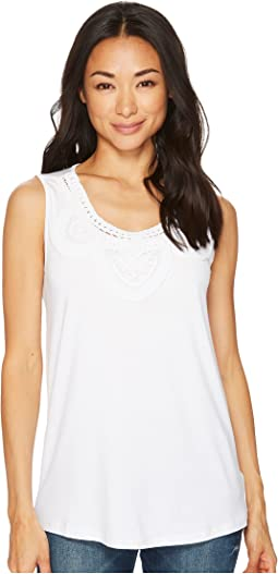 Tribal - Sleeveless Jersey Top with Soutache Detail