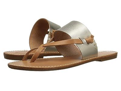 Soludos Slotted Thong Sandal (Metallic Platinum) Women