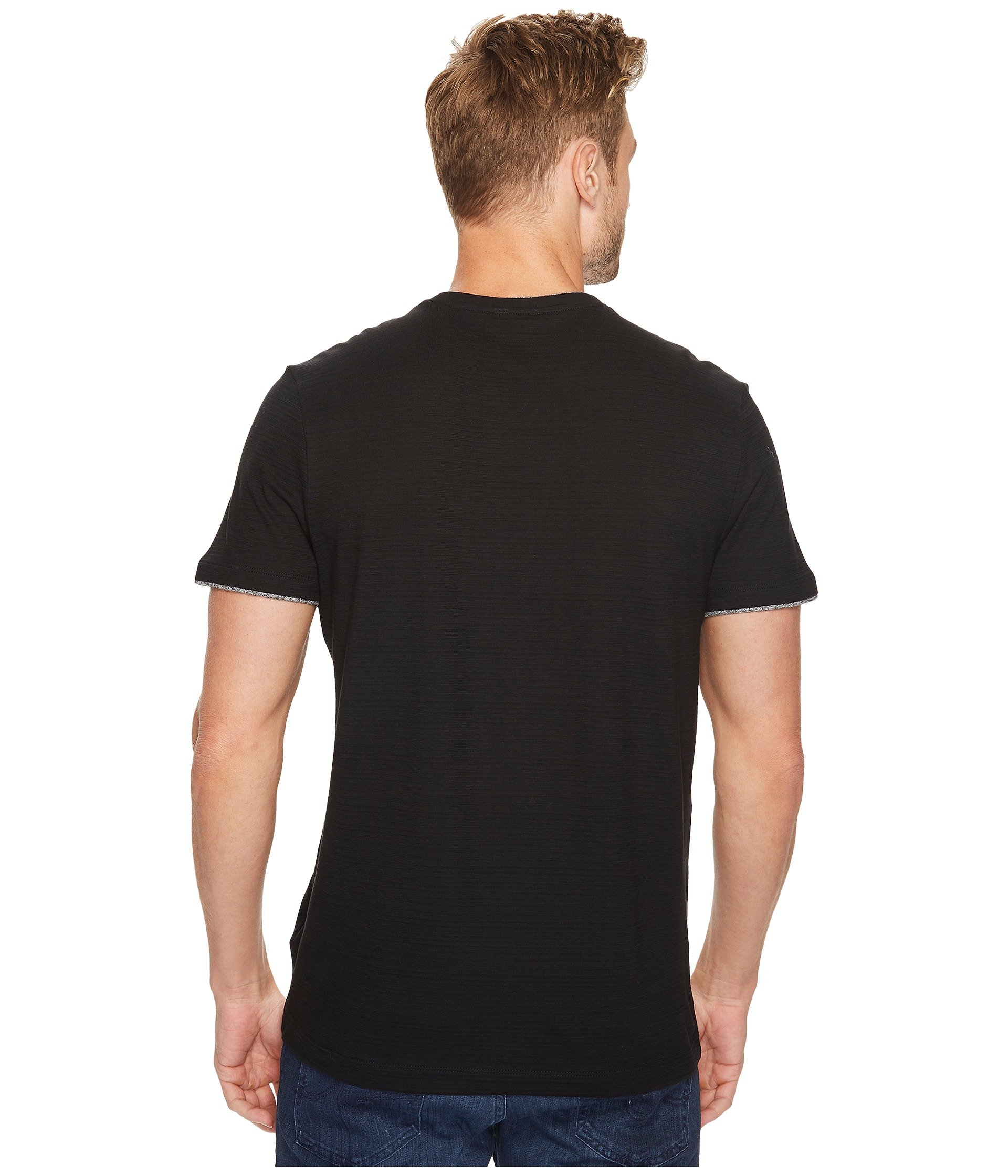 calvin klein faux double layer crew neck t