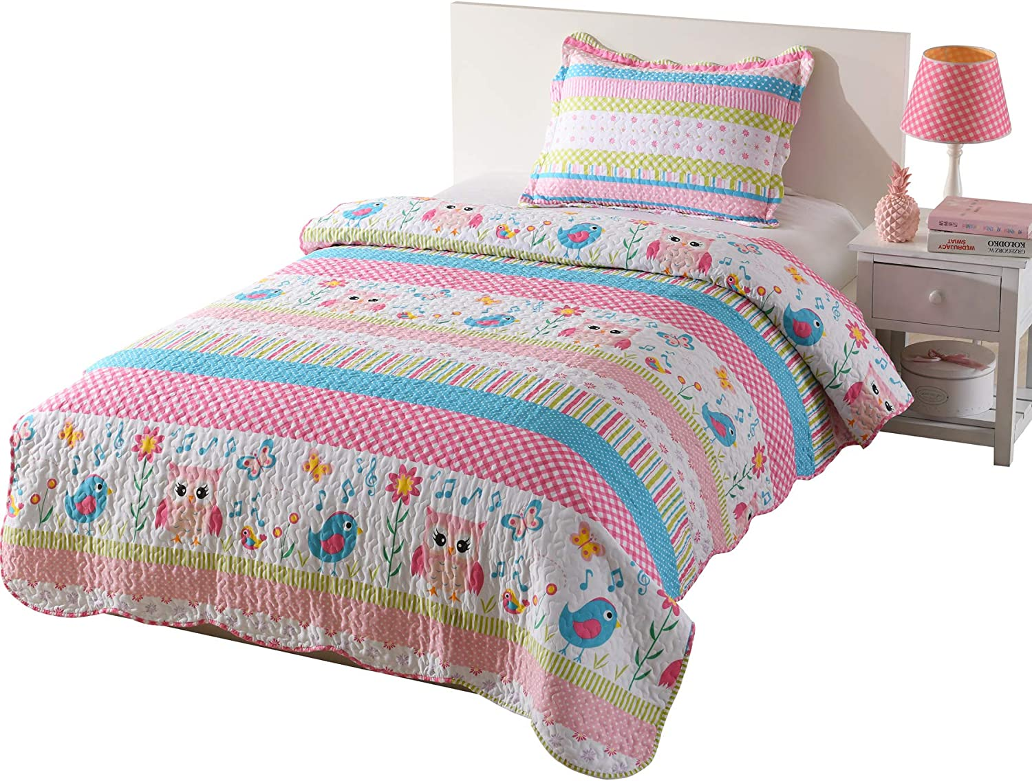 MarCielo 2 Piece Kids Bedspread Quilts Tee Financial sales Recommended sale Throw for Blanket Set
