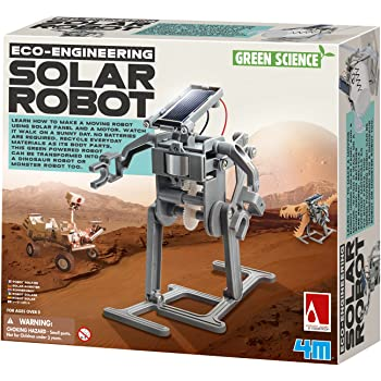 4M Green Science Solar Robot Kit - Green Energy Robotics, Eco-Engineering - STEM Toys Educational Gift for Kids & Teens, Girls & Boys (Packaging May Vary)