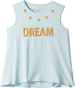 Chaser Kids - Vintage Jersey Glitter Dream Tank Top (Toddler/Little Kids)