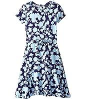 Oscar de la Renta Childrenswear - Flower Silhouette Jersey Dress (Toddler/Little Kids/Big Kids)
