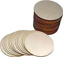 Baumscheiben zum Basteln Holz Kreise f/ür DIY Handwerk 3.5cm Durchmesser /& 2mm Dicke Naturholzscheiben Dekorationen Holzscheiben 100 pcs mit S Haken 100 pcs Runde Holzscheiben mit 2 L/öchern