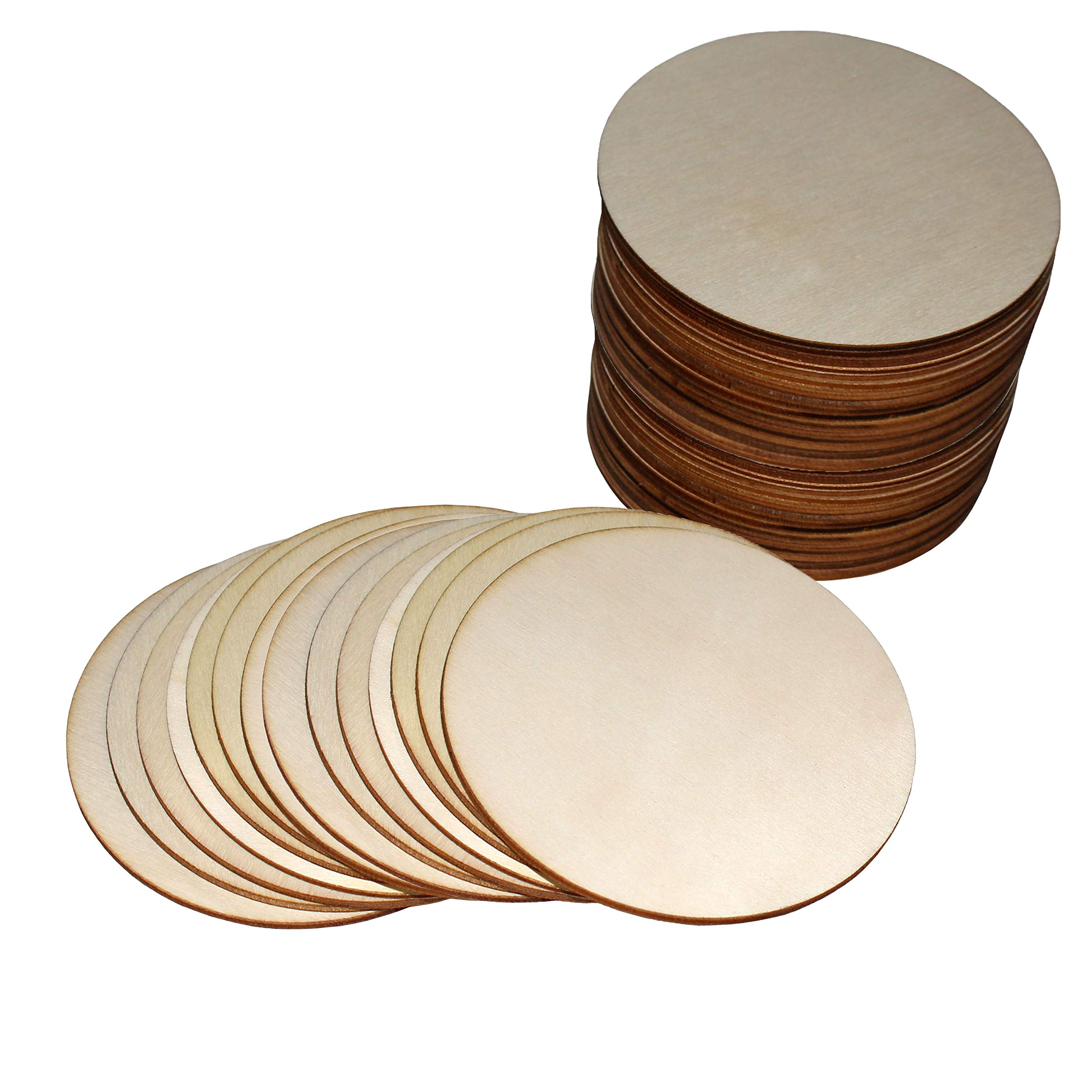 10cm 10 x Wooden Circle Shapes Plain Wood Craft Tags 100mm by BrilliantBuys