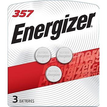 Energizer LR44 Battery, Silver Oxide 303, 357, AG13, or SR44 1.5 Volt Batteries (3 Battery Count)