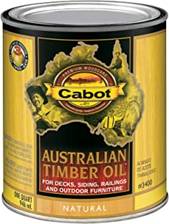 Cabot 140.0003400.005 Australian Timber Oil, Quart, Natural