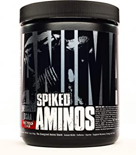 Animal Spiked Aminos - 5g Instant Bcaa - 160mg Spiked Energy Blend - Fruit Punch - 30 Servings, Fruit Punch, 30 Count (P33...