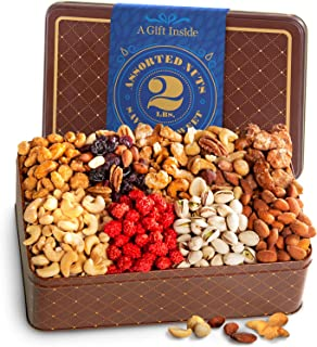 Two Pound Roasted Nuts Assortment Gift Tin